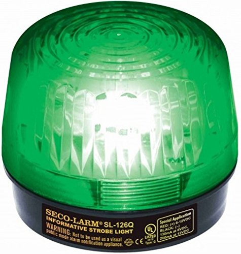 Seco-Larm SL-126Q/G Green Strobe Light; For 6- to 12-Volt use; For informative general signaling requirements; Easy 2-wire installation, regardless of voltage