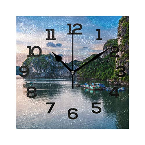square wall deor.htm amazon com imonka beautiful scencey square wall clock non ticking  scencey square wall clock non ticking