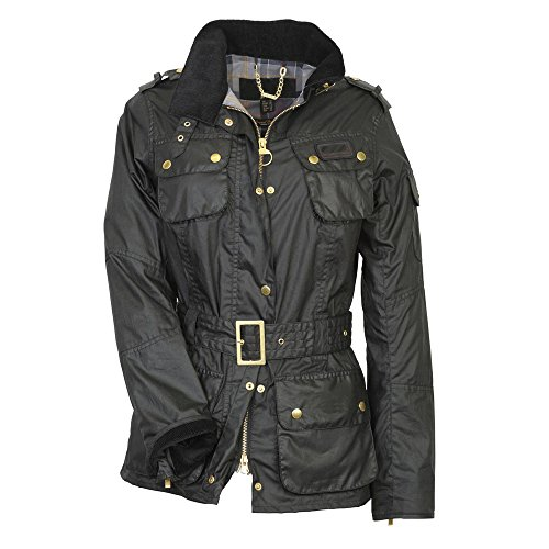 TangChuan Flight Aviator Bomber Waxed Pilot Jacket For Women Black by TangChuan