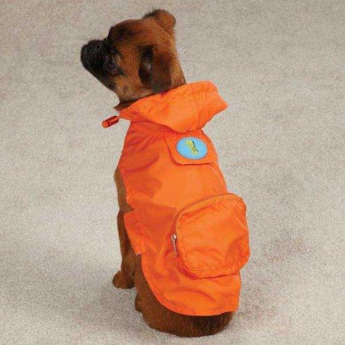 CC Dino Dog Stowaway Jacket S M orange