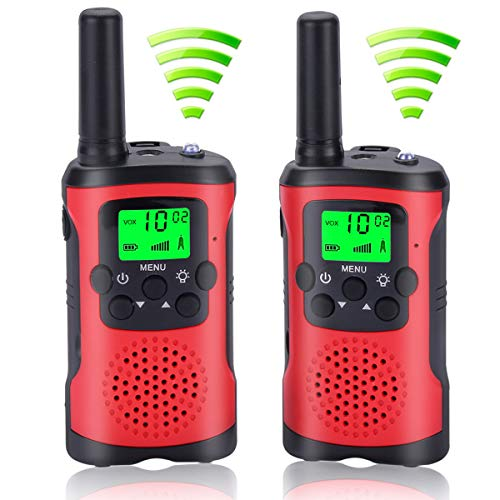 Acehome Walkie Talkies for Kids, Novelty Gifts as Festival Thanksgiving Day Halloween Christmas for Girls Boys, 2pcs 3Miles Handheld Walky Talky for Home Park Neighborhood (A)]()