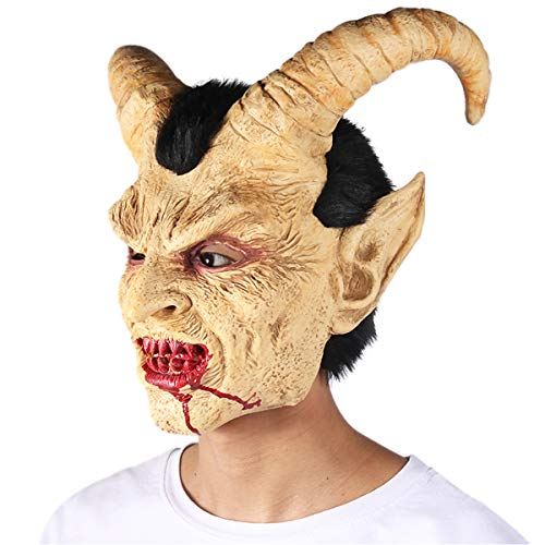 FITMAKER Halloween Novelty Horror Mask, Costume Party Cosplay Lucifer Head Mask for Halloween