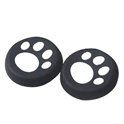 Creazy 1 Pairs Cat's Paw Silicone Gel Thumb Grips Caps For Nintendo Switch Controller (white) : Sports & Outdoors