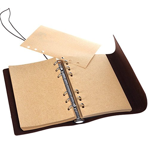 Leather Writing Journal Notebook, MALEDEN Classic Spiral Bound Notebook Refillable Diary Sketchbook Gifts with Unlined…