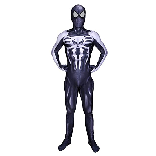 Venom Negro Traje de Hombre araña para niños Adultos Traje de ...