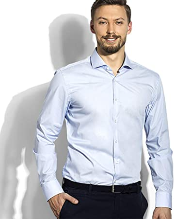 My Custom Style Camisa de Hombre Elegante de Manga Larga de la Riviera Francesa. Talla M: Amazon.es: Hogar