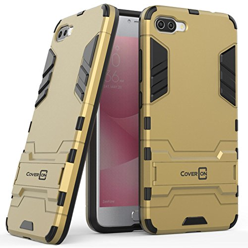 Asus Zenfone 4 Max Case (5.5) ZC554KL, Zenfone 4 Max Pro Case, CoverON Shadow Armor Series Modern Style Slim Hard Hybrid Phone Cover with Kickstand for Asus Zenfone 4 Max/Zenfone 4 Max Pro - Gold