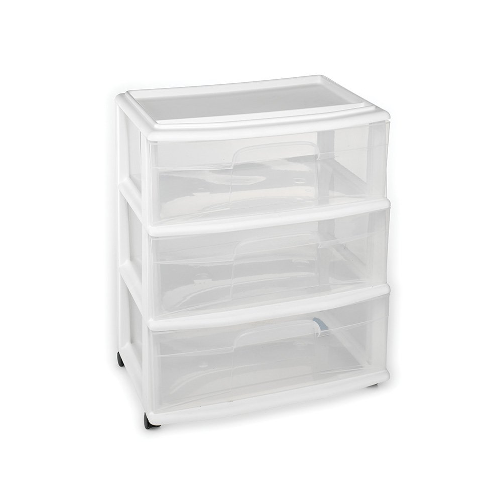 3 Drawer Wide Cart