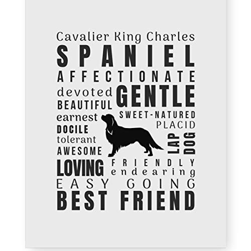 (Pawsome Designs King Charles Cavalier Spaniel Quote Art Print Wall Decor (8x10 Unframed) for Dog Mom )