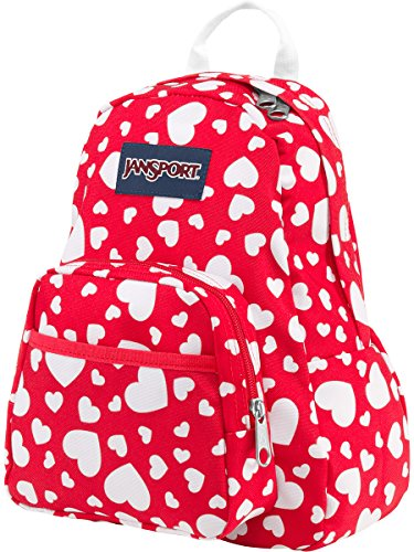 JanSport Half Pint Backpack HIGH RISK RED HERT TO RESIST