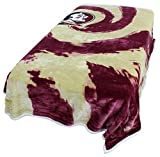 College Covers Florida State Seminoles Super Soft Sherpa Blanket, 63'' x 86'', Red