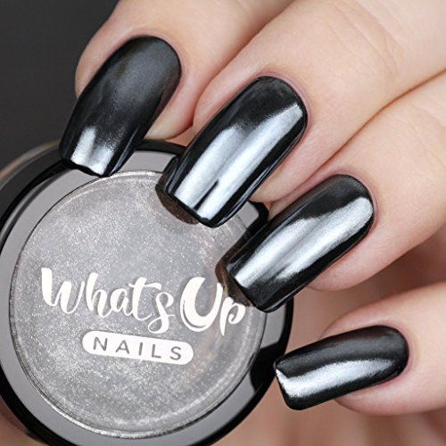 Whats Up Nails - Black Chrome Powder for Mirror Nails