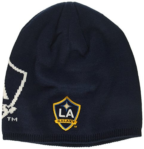 adidas MLS Los Angeles Galaxy Men's Glow in The Dark Knit Beanie, One Size, Navy