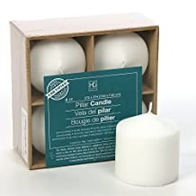 """Hosley 3"""" High Pillar Candles, SET OF 4. WHITE, Unscented. Bulk Buy, using a High Quality Wax Blend. Ideal for Wedding, Emergency Lanterns, Spa, Aromatherapy, Party, Reiki, Candle Gardens"""