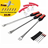 """[14.5"""" Perfect Leverage]Dr.Roc Tire Spoons Lever Iron Tool Kit Motorcycle Bike Professional Tire Change Kit w/ Bag - 3 PCS+3 Rim Protector"""