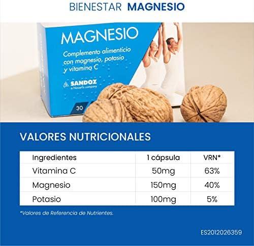 SANDOZ FARMACEUTICA, SA Bienestar Magnesio, Blanco, 30 Sobres