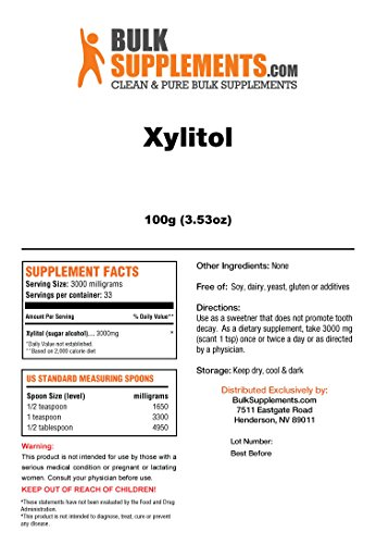 Bulksupplements Xylitol Crystals (100 Grams) by BulkSupplements (Image #1)
