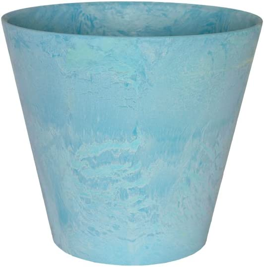 Negro Ivyline Artstone Maceta para Flores Claire Resistente a Las heladas y Ligera 22x20cm