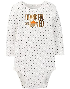 Just One by Carter's Baby Bodysuit Thankful and Loved