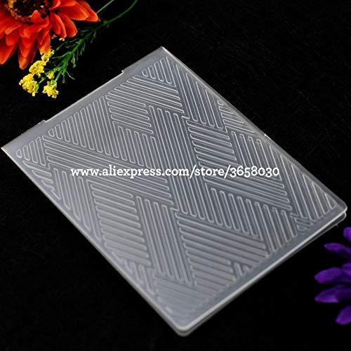 Dalab Textile Stripes Plastic Embossing Folder for Scrapbook DIY Album Card Tool Plastic Template 10.6x14.5cm 8070842