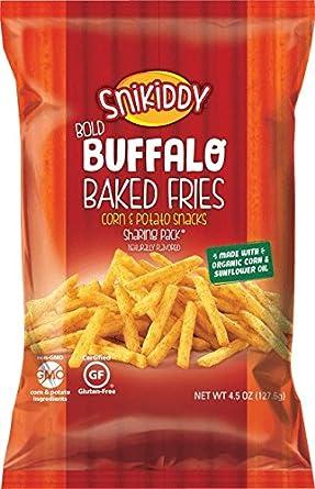 snikiddy Bold Buffalo Baked patatas fritas 4,5 oz. Bolsa ...