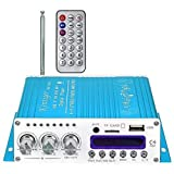 Blue Kentiger Remote Control Wireless Bluetooth Hi-Fi Class-AB Stereo Super Bass Audio Power Amplifier