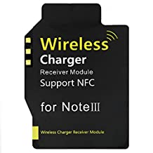 Samsung Galaxy Note 3 Qi High Efficiency Charging Receiver, DLAND 0.5mm Ultra-thin Qi Standard Wireless Charger Receiver Module for Note 3 N3 N900 N9005 Support NFC