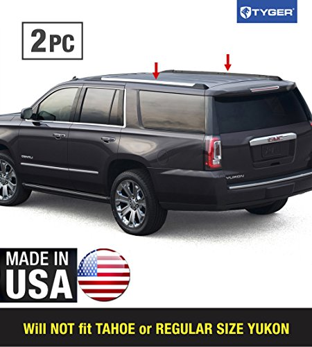 Made in USA! Works with 2015-2019 Chevy Suburban GMC Yukon XL Roof Rack Body Molding Trim Cover ()