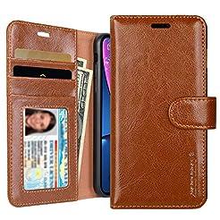 iPhone XR Wallet Case, Jisoncase Leather...