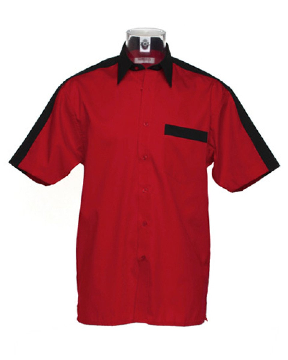 Gamegear Team Short Sleeve Shirt - Red/Black - size XS