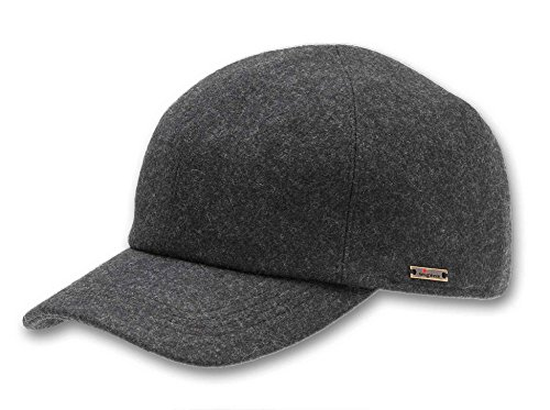 Wigens Mens Kent (Edgar) Wool Baseball Cap with Earflaps, 64, - Wigens Wool