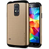 Galaxy S5 Case, Spigen® [Slim Armor] AIR CUSHION [Copper Gold] DOTTED Design Slim Fit Dual Layer Protective Case for Samsung Galaxy S5 (2014) - Copper Gold (SGP10754)