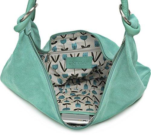 X 44 Pelle Smeraldo Tasca Tasche Cm Borsa Scamosciata 4 Din Pelle Cntmp In Con Donna a4 Spalla Da A 36 xZvvwHq86