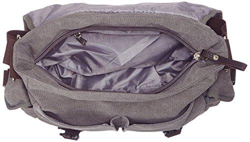 bandolera de X lona gris piel corea Tamaño 17cm y 33X estilo COOLER bolso para con de Negocio mujer 32 4qxFw