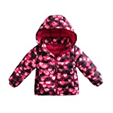 marc janie Little Girls Boys' Outerwear Ultra Light Weight Down Jacket 18 Months (73 cm) Glowing Love