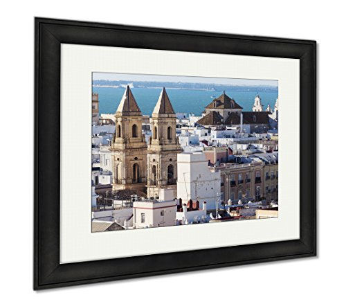 Ashley Framed Prints San Antonio Church In Cadiz Cadiz Andalusia Spain, Wall Art Home Decoration, Color, 30x35 (frame size), Black Frame, AG6515449 by Ashley Framed Prints