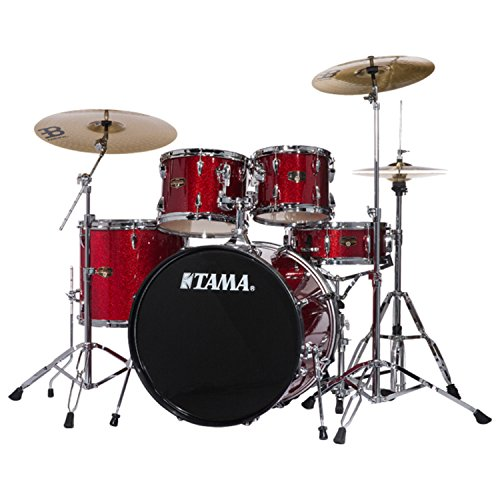 Tama Imperialstar 5-Piece Complete Drum Kit with Meinl HCS Cymbals - FREE PROMO CYMBAL PACK - Candy Apple Mist
