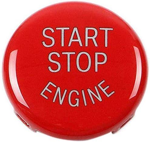 WOVELOT Bouton De D/émarrage Bouton DArr/êt Bouton du Moteur Couvercle du Commutateur DAllumage Remplacement pour BMW X1 X3 X5 X6 Z4 S/érie 1 3 5 E87, E90 // E91 // E92 // E93, E60 Rouge
