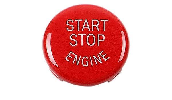 Cikuso Reemplazo de La Cubierta del Interruptor de Encendido del Bot/ón de Arranque del Motor de Parada para BMW X1 X3 X5 X6 Z4 Rojo E87,E90//E91//E92//E93,E60 E84,E83 Etc 1 3 5 Series