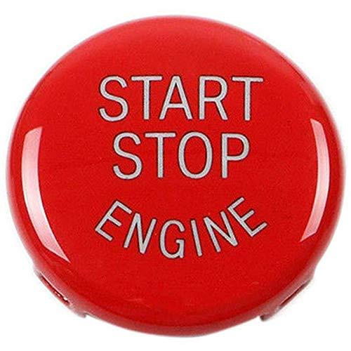 REFURBISHHOUSE Pulsante Arresto del Motore Interruttore accensione Sostituzione Coperchio per BMW X1 X3 X5 X6 Z4 (E84, E83, E70, E71, E89) 1 3 5 Serie (E87, E90 / E91 / E92 / E93, E60) (Rosso) 175760A2