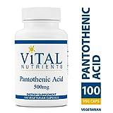 Vital Nutrients - Pantothenic Acid 500 mg - Immune System Support - 100 Capsules