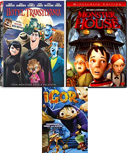 Monstrous Night Animated Monster House + Hotel Transylvania & Igor Movie Halloween Triple Feature Creepy family fun]()