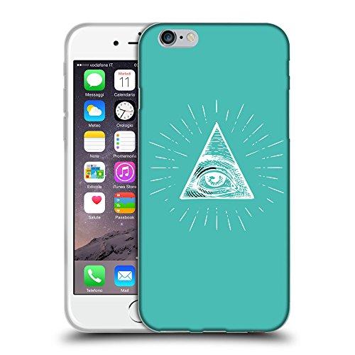 "GoGoMobile Coque de Protection TPU Silicone Case pour // Q09040634 Œil Providence 14 Turquoise // Apple iPhone 6 PLUS 5.5"""