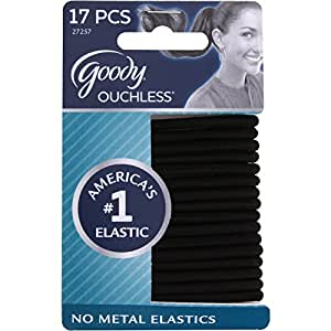 Amazon Com Goody Ouchless Elastic Hair Bands No Metal