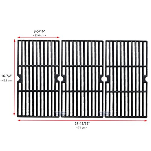 Cast Iron Grill Cooking Grid Grate Replacement Parts for Charbroil 463420508, 463420509, 463420511, 463436213, 463436214, 463436215, 463440109, 463441312, 463441514, 463461613 & Thermos ()