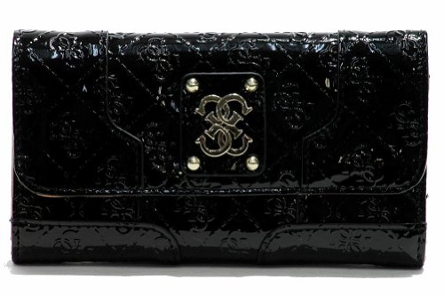 Women's Guess Valka SLG SG439251 Clutch Trifold Wallet (Black)