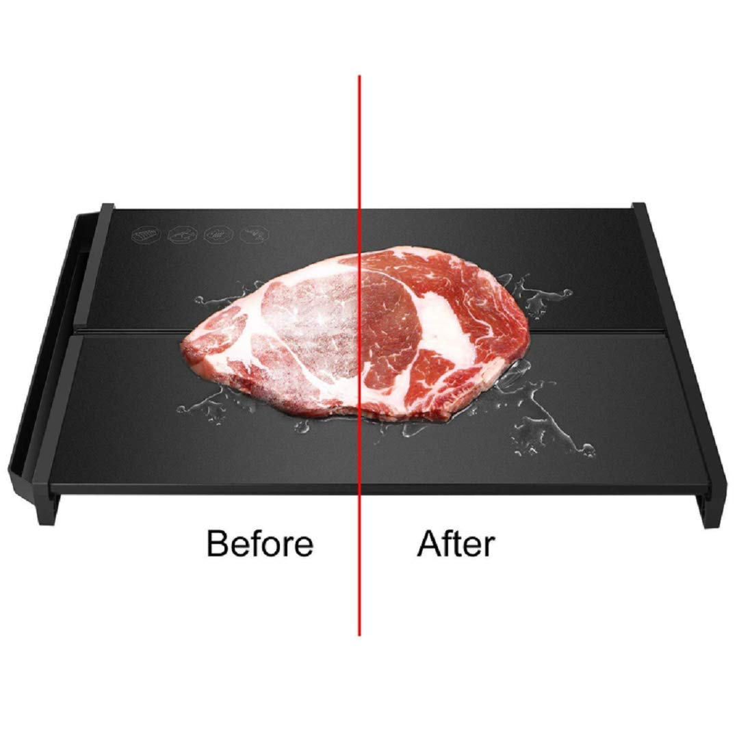 Defrosting Tray, Rapid Thawing Plate Thickness 0.24'', Stable Framework, Defrost Frozen Food Like Meat, Chicken, Fish Quickly, No Additional Heat Source Required by TMKEFFC (Image #1)