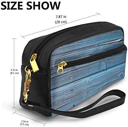 長財布 ポーチ Wood レザーバッグ 化粧バッグ おしゃれ かわいい 小型バッグ ペンケース クラッチポーチ メイクポーチ
