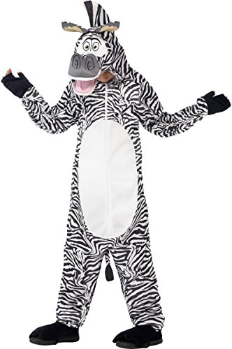 Boys Girls Official Madagascar Marty The Zebra Cartoon Animal World Book Day Festival Fancy Dress Costume Outfit (4-6 -