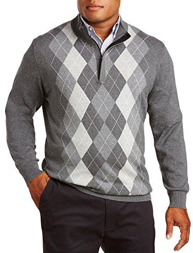 1/4 Zip Argyle Sweater - 5